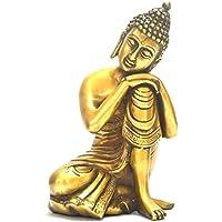 Golden unico asiatico giapponese Home Decor–17,8cm pensando di Buddha seduto statua figure–prosperità ricchezza Good Luck Collectible