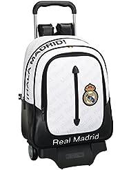 Safta Real Madrid Mochila Grande con Ruedas, Color Blanco