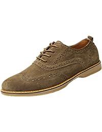 Yaer Zapatos Brogue Oxford de Ante Hombres