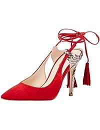 Guess Baja - Zapatos de vestir de Piel para mujer rojo Size: