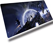 Gaming Mouse Pad XXL, Wrapped Mouse Pad Anti-Slip Rubber (900 * 400mm) For Computers, PC and Laptops,Planets W