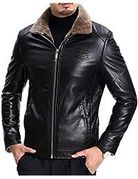 81d7df50285892 Herren Winterjacke Dicke Futter Jacke Jungen Leder Weiche Mantel Verdicken  Fashion Warm Parka Kurz Coats Jacket