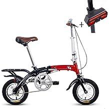 Huoduoduo Bicicleta, Bicicleta Plegable, 12 Pulgadas, Aleación De Aluminio, Peso Ligero,
