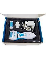 : MAXOfit® Akku - Hornhautentferner ShapeX Blau, geeignet für Hand und Fußpflege