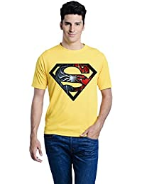 Lime Printed Round Neck T Shirt For Men