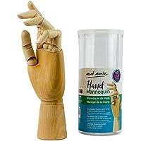 MONT MARTE Maniqui Mano - Mano Modelo Madera - Mano Izquierda - 25,4 cm - Mannequin flexible, ideal como modelo para Dibujar - Perfecto Auxiliar de Dibujo para Principiantes, Profesionales y Artistas