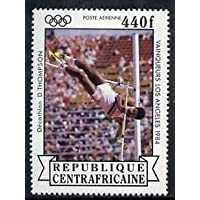 Central African Republic 1985 Pole Vault (Decathlon) 440f from Olympic Gold Medalists set u