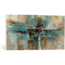 """Cuadro en lienzo: Silvia Vassileva """"Morning Fjord"""" - Impresión artística de alta calidad, lienzo en bastidor, 90x45 cm"""