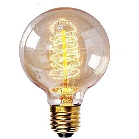 Lampadina G80 B22 60W Edison Luce Vintage dimmerabili Retro filamento della lampadina spirale stile Globe bianco caldo