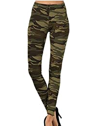NEW LADIES WOMENS CAMOUFLAGE CAMO ARMY NEON YELLOW AND NEON PINK PRINT TROUSERS PANTS LEGGINGS