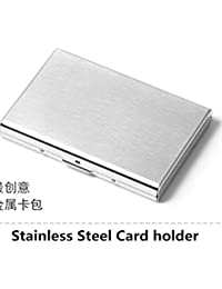 New Stainless Steel Aluminium Metal Case Box Men Business Credit Card&ID Holder Case Cover Women Coin Purse Card...