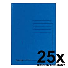 Falken Premium Square Cut Folders Made from Extra Strong Colour Cardboard Blue