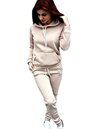 Sentao Abbigliamento Sportivo Felpa Donna Autunno Maglie a Manica Lunga  Pantaloni Tute da Ginnastica Abbigliamento Sportivo f8bac2d5e30