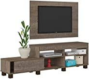 Artely Ever TV Table and Wall Panel for 47 inch TV, Cinnamon Brown, Panel: W 120 cm x D 3 cm x H 73.5 cm - TV