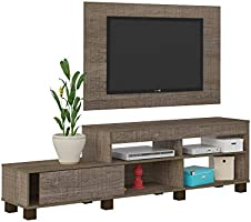 Artely Ever TV Table and Wall Panel for 47 inch TV, Cinnamon Brown, Panel: W 120 cm x D 3 cm x H 73.5 cm - TV Table W...