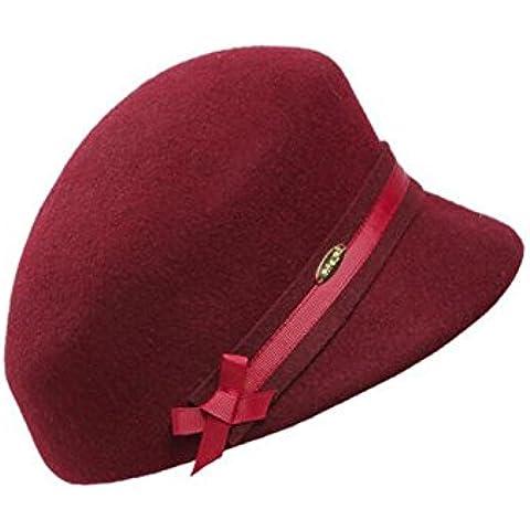 WE&ZHE Riding hembra de lana sombrero gorras aleros corto estilo de la manera de Inglaterra bóveda en el otoño y el invierno ,