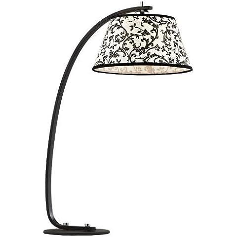 iluminación de la lámpara pastoral elegante simplicidad dormitorio dormitorio de la lámpara de noche negro