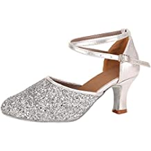 GNYD-Moda para Mujer Waltz Danza Moderna Zapato Sal/óN De Baile Danza Latina Sandalias con Fondo Suave