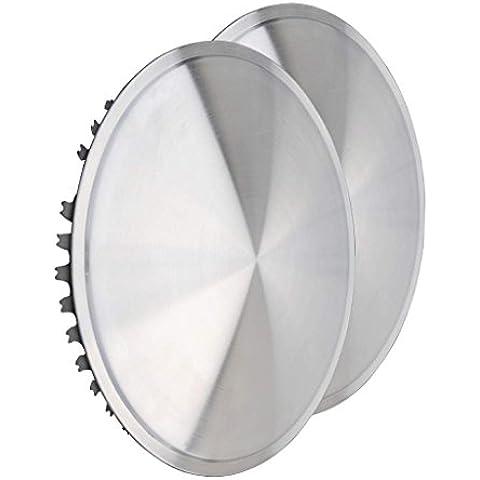 Set di copricerchi universali passendes (2pezzi) 15pollici Moon Caps–per autovettura, furgone, Camper, rimorchi, auto d' epoca, youngtimer (in acciaio