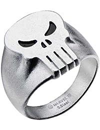 Marvel Comics Punisher Tête de mort Bague pour homme en acier inoxydable