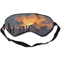 Eye Mask Eyeshade City Sunset Scenery Sleeping Mask Blindfold Eyepatch Adjustable Head Strap preisvergleich bei billige-tabletten.eu