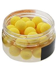 GGG 30Pcs/Box Leurre Flottant Carpe poissons appâts artificiels 12MM Yellow