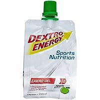 Dextro Energy Liquid Gel Apple / Flüssiges kohlenhydratreiches Konzentrat-Gel für Ausdauer- & Leistungs-Sportler - leicht trinkbar / 18 Beutel (18 x 60ml)