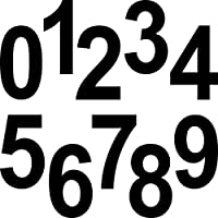 10pezzi 12cm Nero paragrafo numero numeri numero cifre numero civico adesivo I Cut Tattoo Pellicola Decorativa