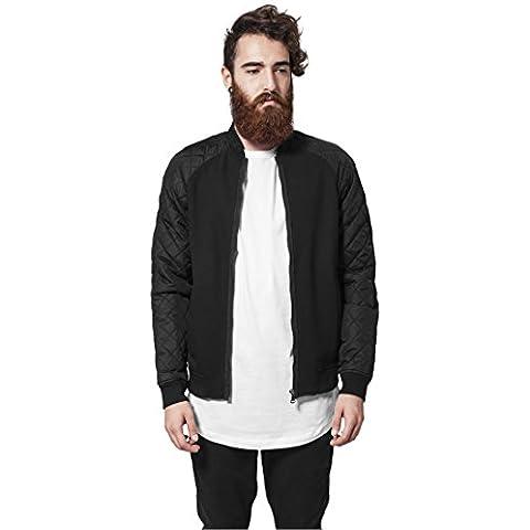 Diamond Nailon Sweatjacket Urban Classics Streetwear Chaqueta Para Hombre, blk/blk, XL