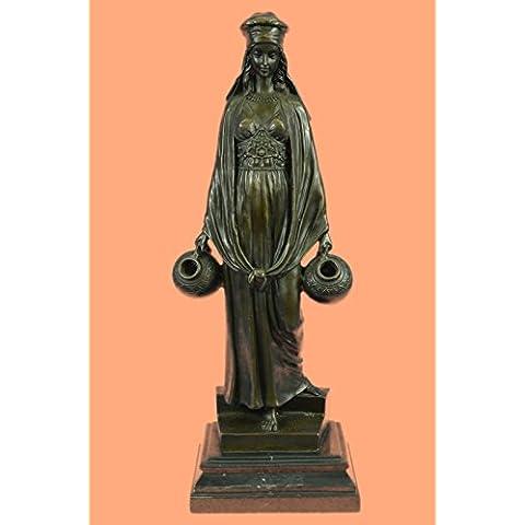 Escultura bronce estatua...Envío gratis...Erótica señora que llevan moldeada jarras de agua caliente(EP-1063-EU)Estatuas estatuilla estatuillas desnuda Oficina y Decoración del hogar Coleccionables Pr