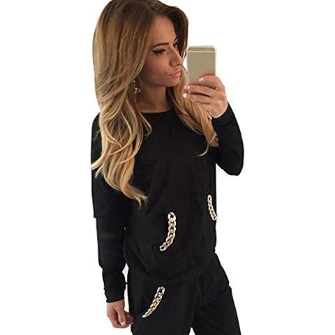 Baymate Mujer Chándal 2PCS Conjuntos Deportivos Casual Sudadera Sweatshirt + Pantalones