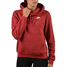 nike W NSW FNL FLC Sudadera, Mujer, Rojo / (Tough Red / Htr / Tough Red / White), M