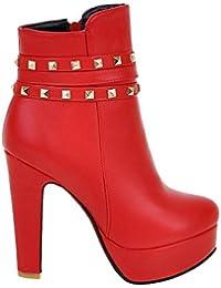Suchergebnis auf Amazon.de für  rote stiefeletten - Schnalle ... de8f3f4a6f