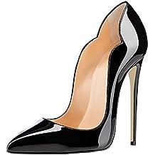 f16fabb6e980f EDEFS Scarpe col Tacco Donna Classico Ritaglio High Heels Chiuse Davanti  Scarpa