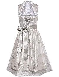 749d5a922d8cf8 Tramontana Damen Trachten-Mode Midi Dirndl Ivette in Silber traditionell