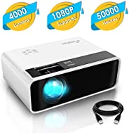 Mini Projector, ELEPHAS Video Projector 4500 lux with 50,000 hrs Long Life LED Portable Home Theater Projector