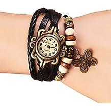 Dosige Pulsera del Reloj Retro Estilo Romano Mariposa Colgante Cuarzo Reloj de Pulsera Mujeres Accesorios de