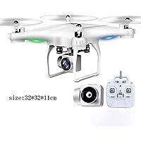 Droni Drone con Fotocamera Quadcopter con Fotocamera grandangolare 720P Video Live App Mobile Controllo Altitudine modalità Attesa Elicottero Bianco