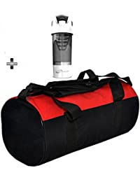 Gym Bag And White Cyclone Shaker Bottle Combo Pack For Men|Women A Must Have Gym Bag Combo Kit For Boy's Girl's...