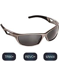 Polarisierte Sportbrille Sonnenbrille Fahrradbrille mit UV400 Schutz für Damen und Herren Autofahren Laufen Radfahren Angeln Golf TR90