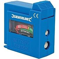 Silverline 918147, Comprobador de Pilas y Baterías, Color Azul