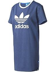 adidas Tee Dress Camiseta Vestido, Mujer, Azul (Azumis), 38