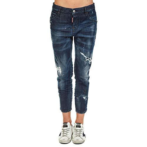 dsquared damen jeans DSQUARED S72LB0128 Blue Size:38