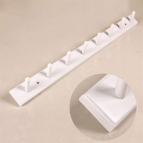 WSC An der Wand befestigter Hutständer Wandhalterung Multifunktionaler Kleiderständer (Color : White, Size : 80cm)