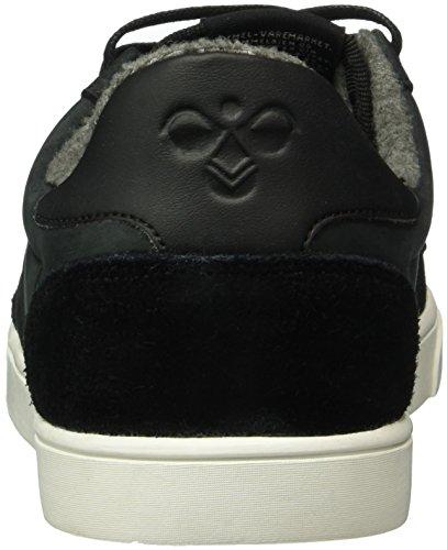 Hummel Unisex-Erwachsene Slimmer Stadil Mono Oiled Low Top Schwarz (Black)