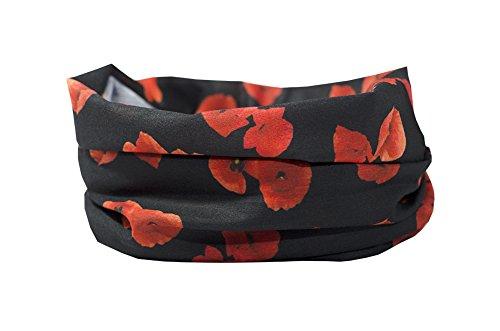 RUFFNEK Poppy Design–Nackenwärmer, Ski Maske, Head Schal Multifunktions-Schal/Snood–One Size für Damen, Herren & Kinder - Fußball-helm-maske