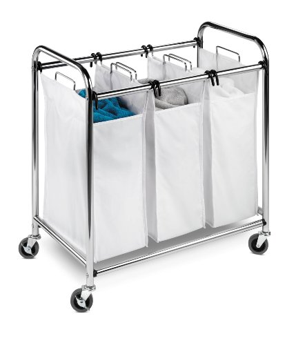 honey-can-do-srt-01235-heavy-duty-triple-rolling-laundry-sorter-hamper-chrome