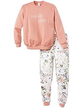 Calida Mädchen Zweiteiliger Schlafanzug Lacy Lady Pyjama Bündchen