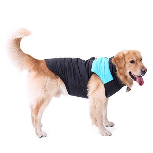 Hunde Mantel Pullover Winter Weste warme wasserdichte Jacke Hund Bekleidung Kleidung für kleine mittlere Welpen Haustiere Haustier blau 70