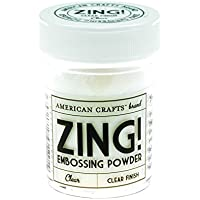American Crafts polvos de embossing Zing Clear